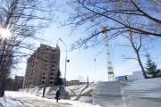 Строительство на пл. Павленковской, 3а (Фото: февраль 2018)