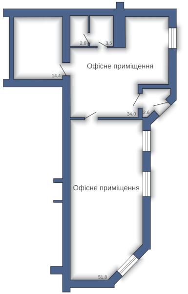 Офисное помещение №12 (108,9 м²)