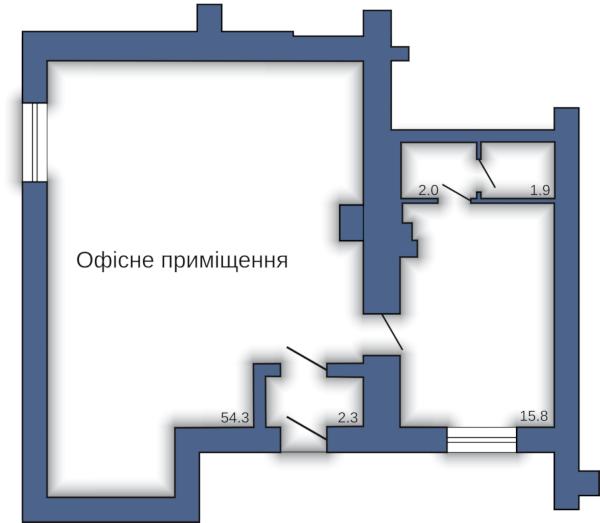 Офисное помещение №13 (76,3 м²)